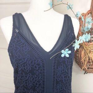 Abercrombie & Fitch Blue Crochet Lace Dress Sz M